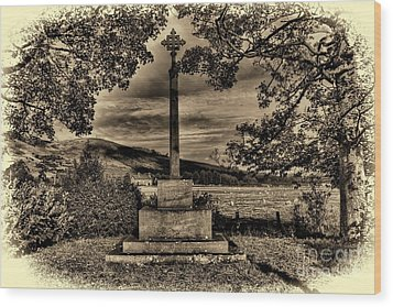 Kirknewton War Memorial Northumberland Wood Print