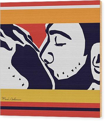 Kiss 2 Wood Print by Mark Ashkenazi