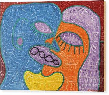 Kiss Wood Print by Patrick J Murphy