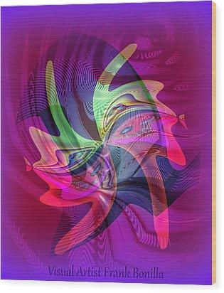 Kiss Wood Print by Visual Artist  Frank Bonilla