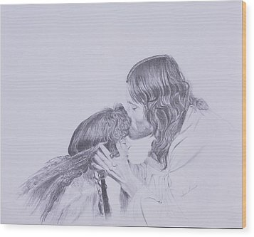 Kissed By Redemption From The Life Of Jesus Series Wood Print by Susan Harris