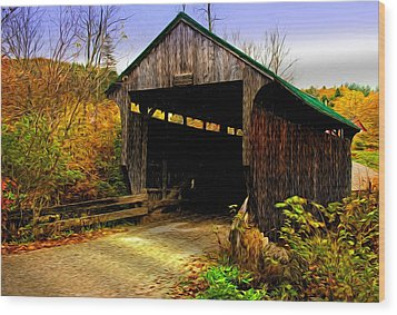 Wood Print featuring the photograph Kissing Bridge by Bill Howard