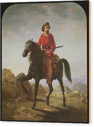 Kit Carson Wood Print by William Tylee Ranney