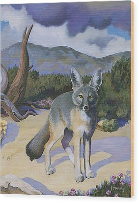 Kit Fox Wood Print