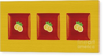 Kitchen Art - Citrus Lemon Wood Print by Aimelle ML