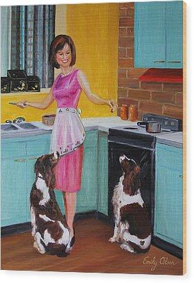 Kitchen Companions Wood Print
