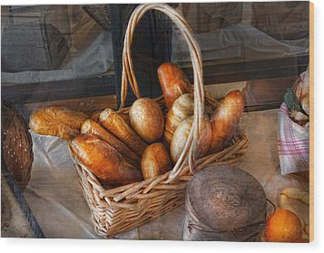 Kitchen - Food - Bread - Fresh Bread  Wood Print by Mike Savad