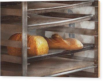 Kitchen - Food - Bread - Freshly Baked Bread  Wood Print by Mike Savad