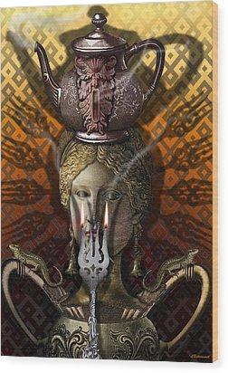 Kitchen Goddess Wood Print by Larry Butterworth