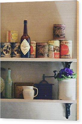 Kitchen Pantry Wood Print by Susan Savad