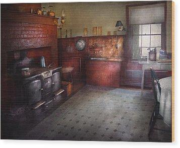 Kitchen - Storybook Cottage Kitchen Wood Print by Mike Savad