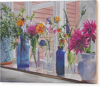 Kitchen Window Sill Wood Print