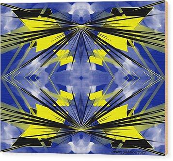Kite Wood Print by Brian Johnson