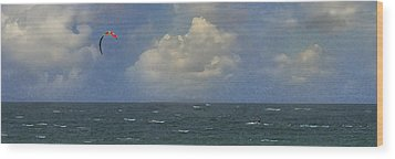 Kite Surfer Wood Print by Michael Moschogianis
