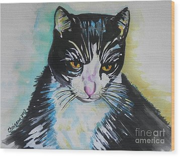 Kitty ..all Grown Up Wood Print by Chrisann Ellis