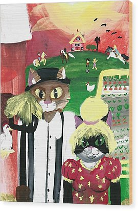 Kitty Farmer Wood Print