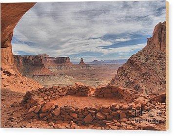 Kiva Canyon Wood Print by Adam Jewell