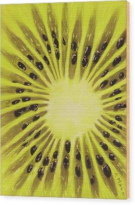 Kiwi Wood Print by Anastasiya Malakhova