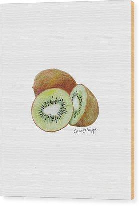 Kiwi Wood Print by Carol Veiga