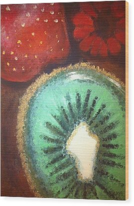 Kiwi Wood Print by Corbin Runnels