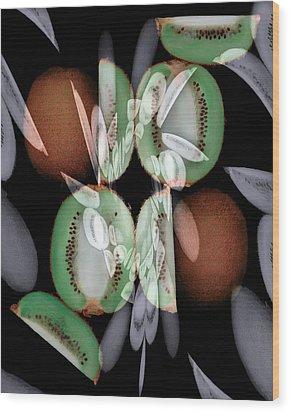 Kiwi Wood Print