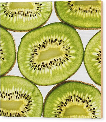 Kiwi Fruit IIi Wood Print by Paul Ge