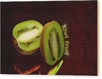 Kiwi Fruit Wood Print by Tommytechno Sweden
