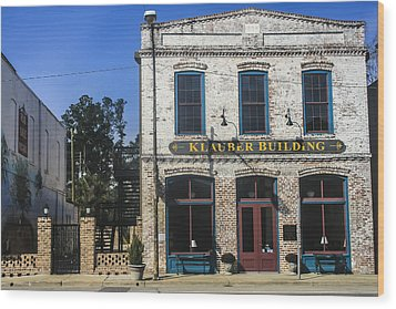Klauber Building  Wood Print by Steven  Taylor