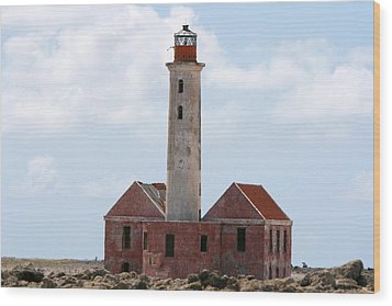 Klein Curacao Lighthouse Wood Print by David Millenheft
