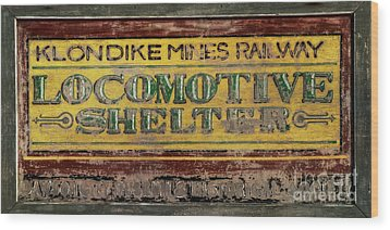 Klondike Mines Railway Wood Print by Priska Wettstein