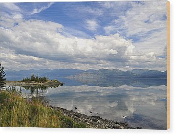Wood Print featuring the photograph Kluane Reflections by Cathy Mahnke