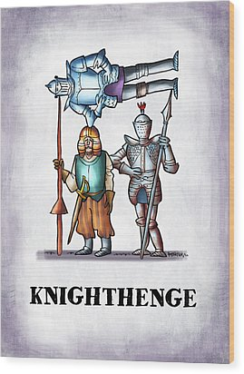 Knighthenge Wood Print by Mark Armstrong