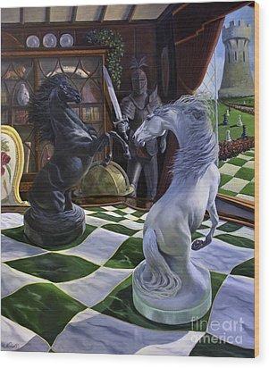 Knight's Magic Wood Print by Jeanne Newton Schoborg