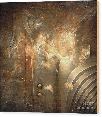 Knighty Armor Wood Print by Alexa Szlavics
