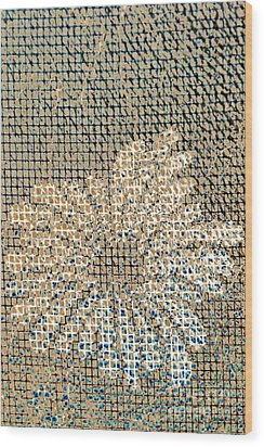 Wood Print featuring the photograph Knit Net Flower 1 by Darla Wood