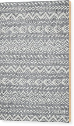 Knit Pattern Abstract Wood Print