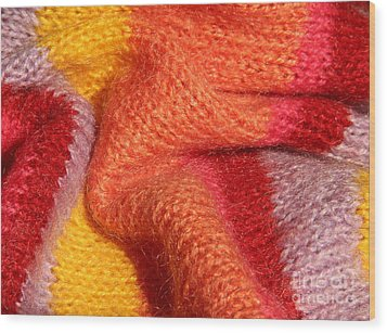 Knitted Textile Wood Print by Kerstin Ivarsson