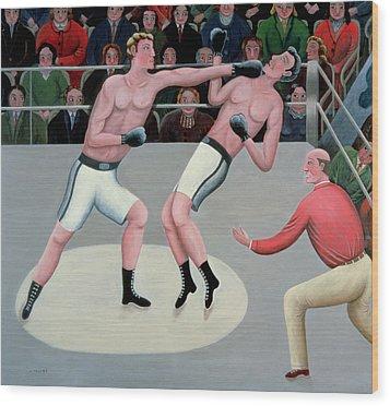 Knock Out Wood Print by Jerzy Marek