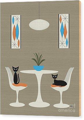 Knoll Table Wood Print