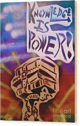 Knowledge Is Power 1 Wood Print by Tony B Conscious