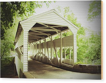 Knox Bridge Wood Print by Michael Porchik