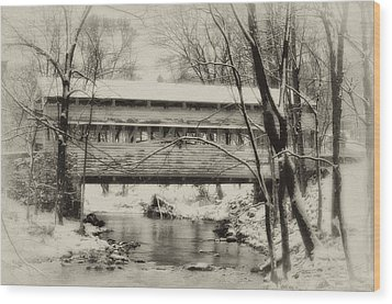 Knox Valley Forge Covered Bridge Wood Print by Bill Cannon