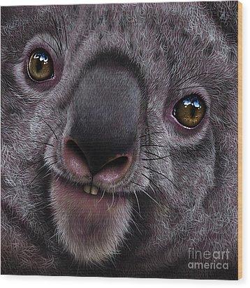 Koala Wood Print by Jurek Zamoyski