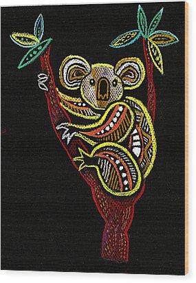 Koala Wood Print by Leon Zernitsky