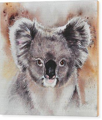 Koala  Wood Print by Sandra Phryce-Jones