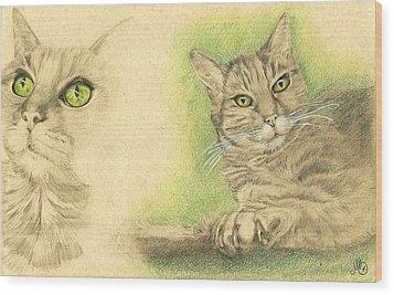 Kobi Study Wood Print by Marcianna Howard