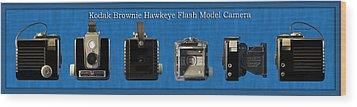 Kodak Brownie Hawkeye Camera Wood Print by Thomas Woolworth