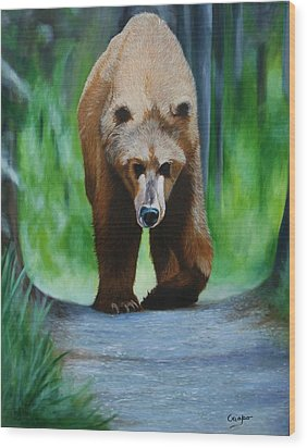 Kodiak Wood Print by Jean Yves Crispo