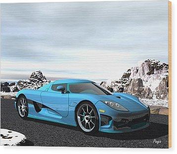 Koenigsegg Ccx Wood Print by John Pangia