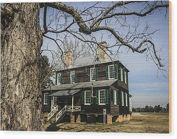 Koger House Backside Wood Print by Steven  Taylor